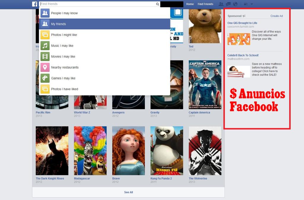 anuncios facebook ganar dinero con publicidad