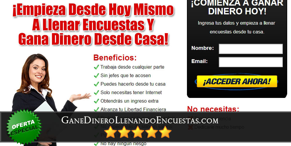 GaneDineroLlenandoEncuestas.com Review Completo del Sistema